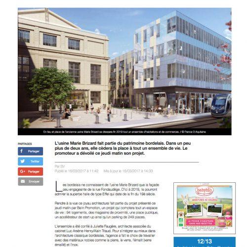 Belin Promotion - France 3 région - Agence La Cerise