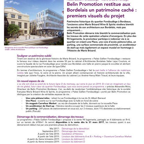 Belin Promotion - Communiqué de presse - Agence La Cerise