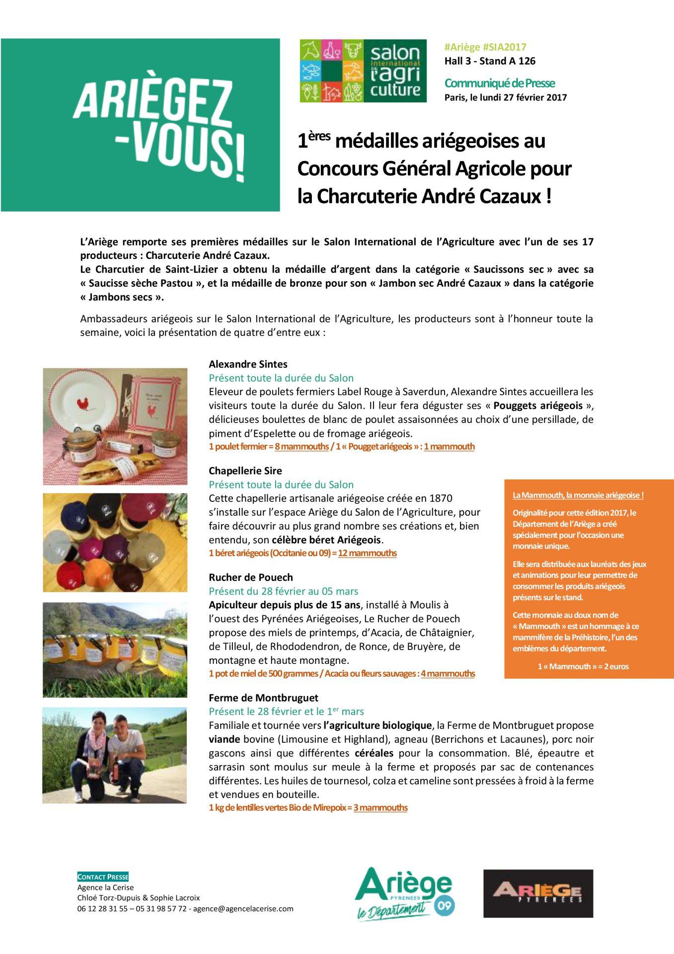Conseil Départemental de l'Ariège - Communiqué de presse – Conseil Départemental de l'Ariège - Agence La Cerise