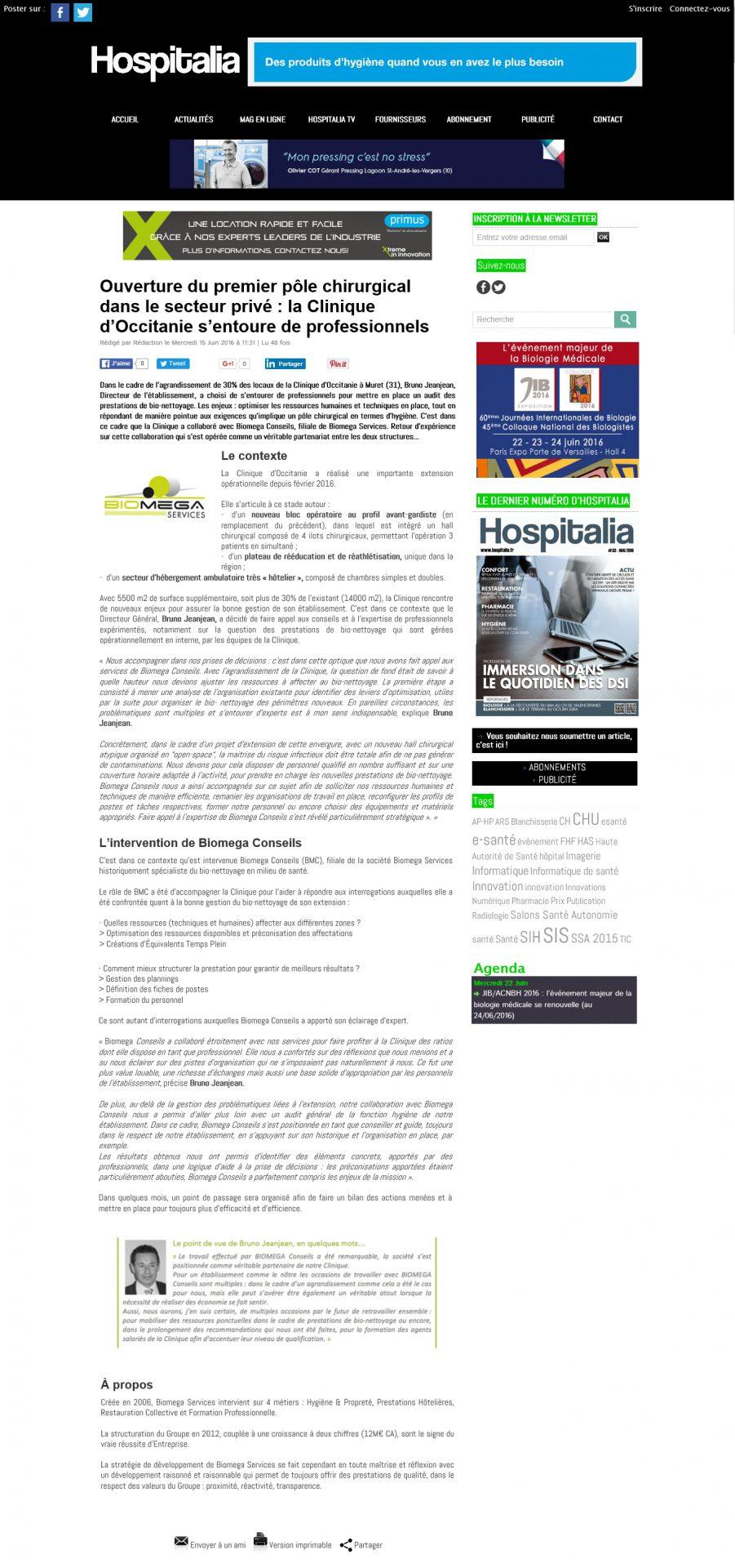 Biomega services - hospitalia.fr - Agence La Cerise