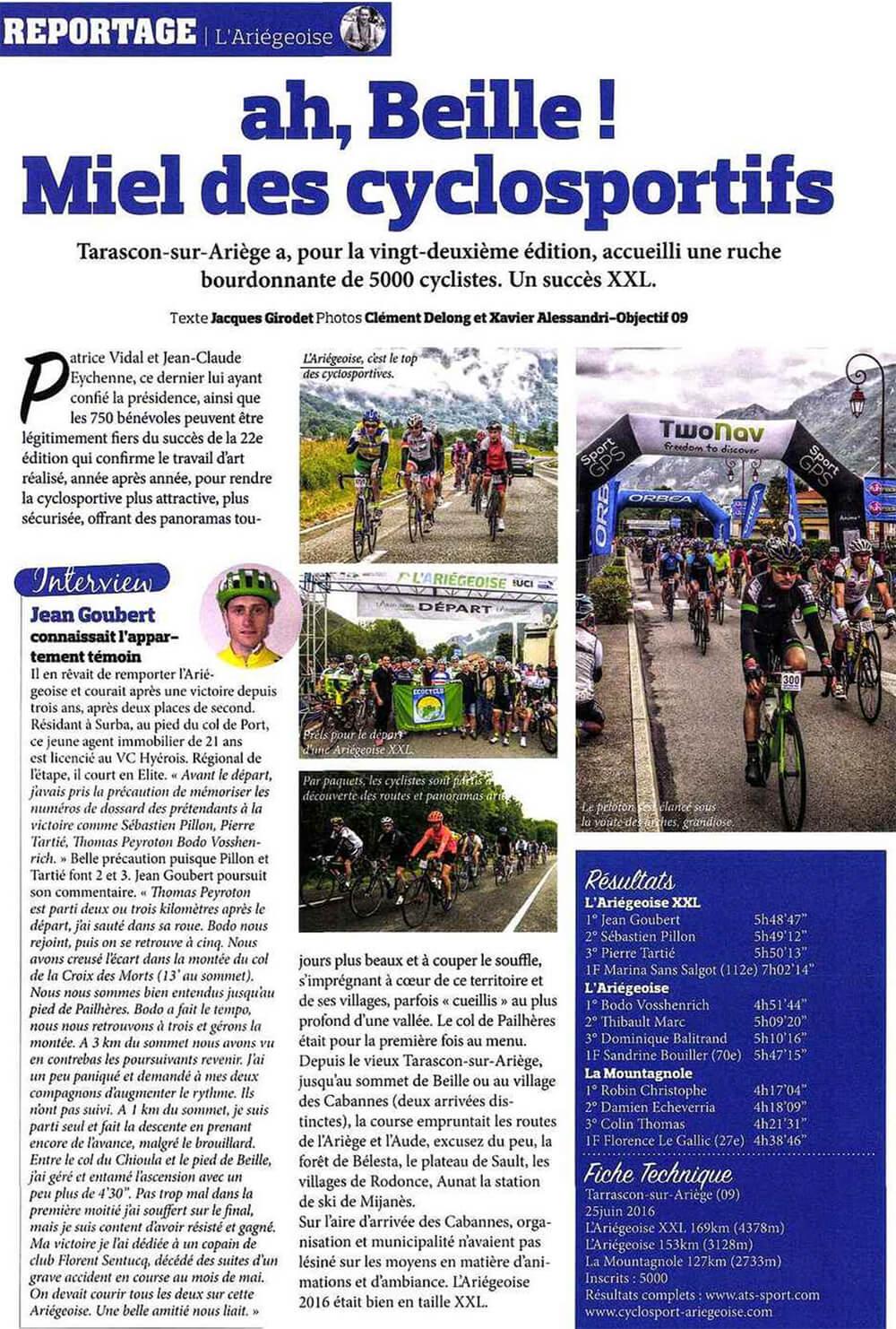 Conseil Départemental de l'Ariège - Cyclosport magazine - Agence La Cerise
