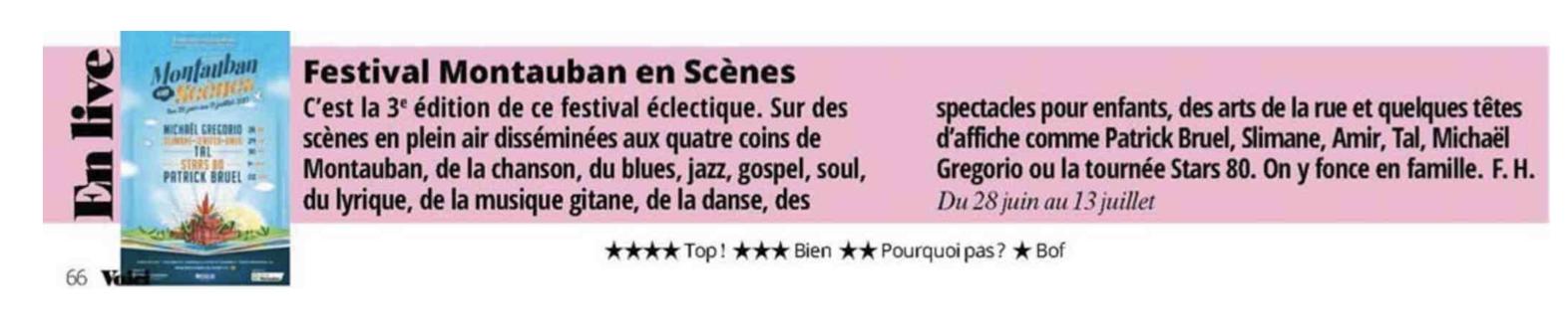 Montauban en Scènes - voici - Agence La Cerise